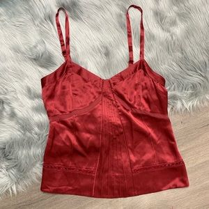 MARC JACOBS | Red Silk Cami Blouse